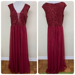 Ever-Pretty A-Line Sequins Patchwork Long Gown